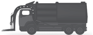 Use onboard scales to know the weight of your bin or of your entire refuse load